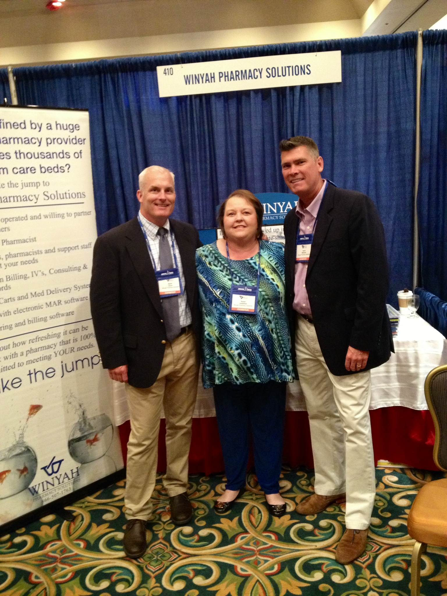 Kevin Dixon, sales director; Susan Lecklitner, clinical account manager; David Whitlock, president.