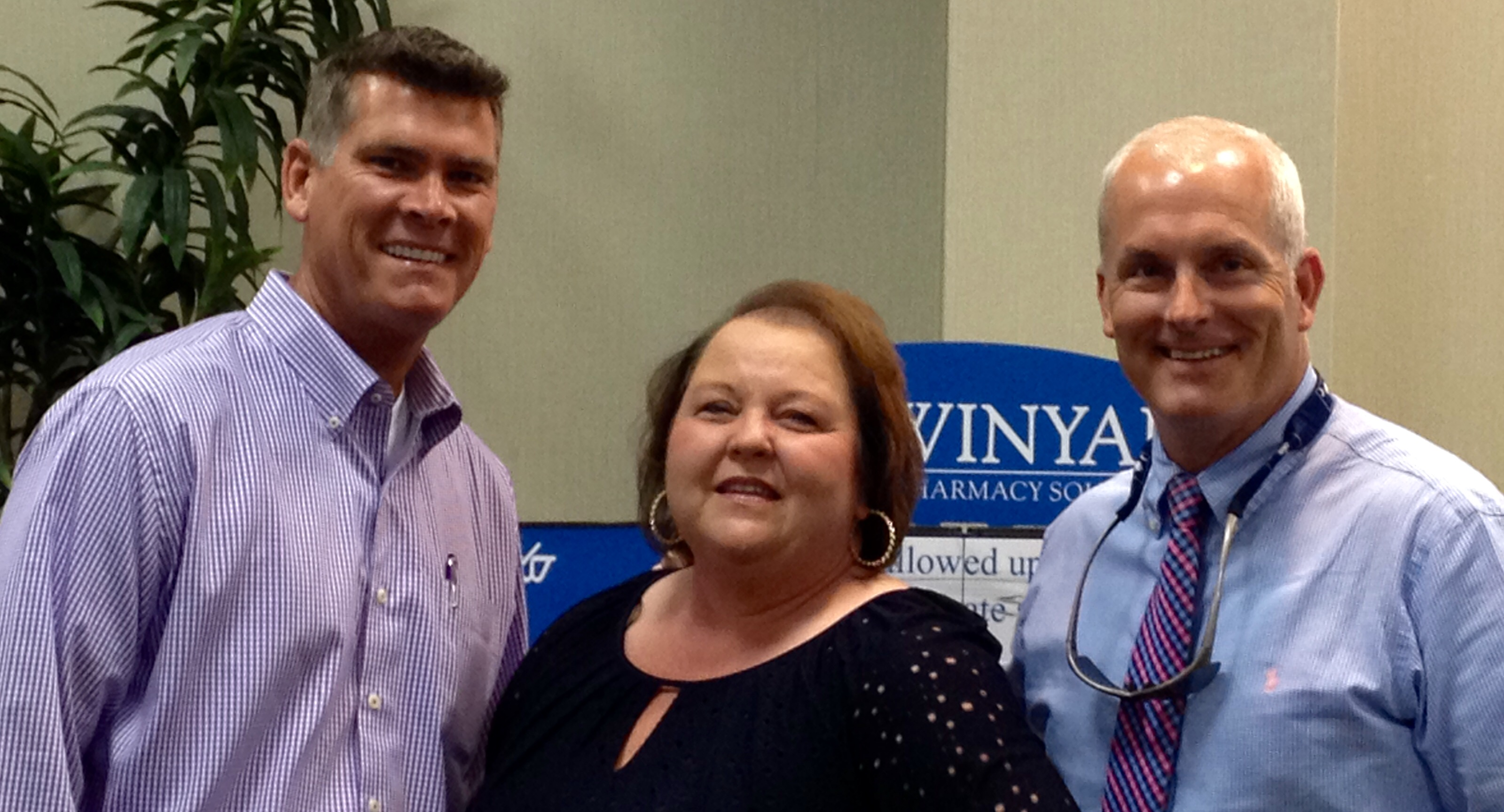 David Whitlock, Susan Lecklitner and Kevin Dixon represented Winyah Pharmacy at the ACHCA conference.