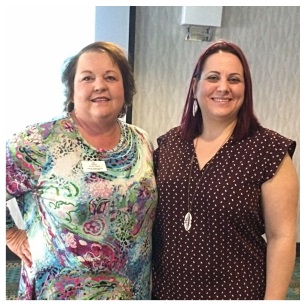 Susan Lecklitner, clinical account manager at Winyah Pharmacy, with Melody Bailey, executive director at SCARCH.