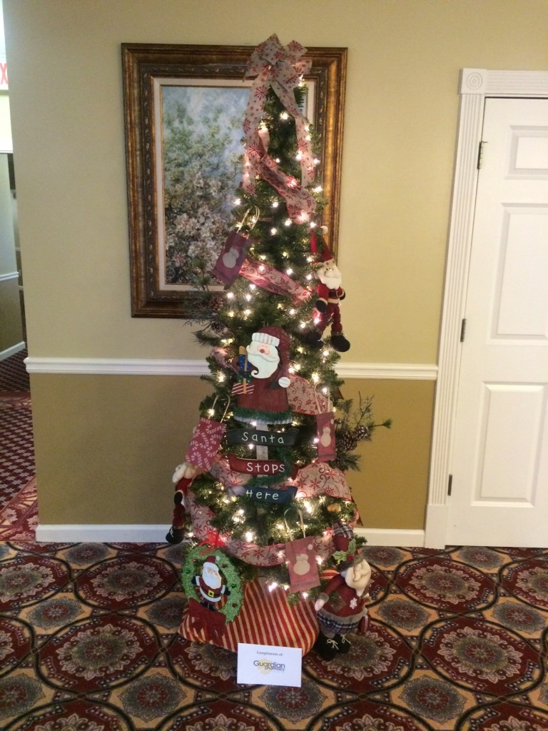 The Christmas tree decorated by employees of Guardian Pharmacy of Atlanta.