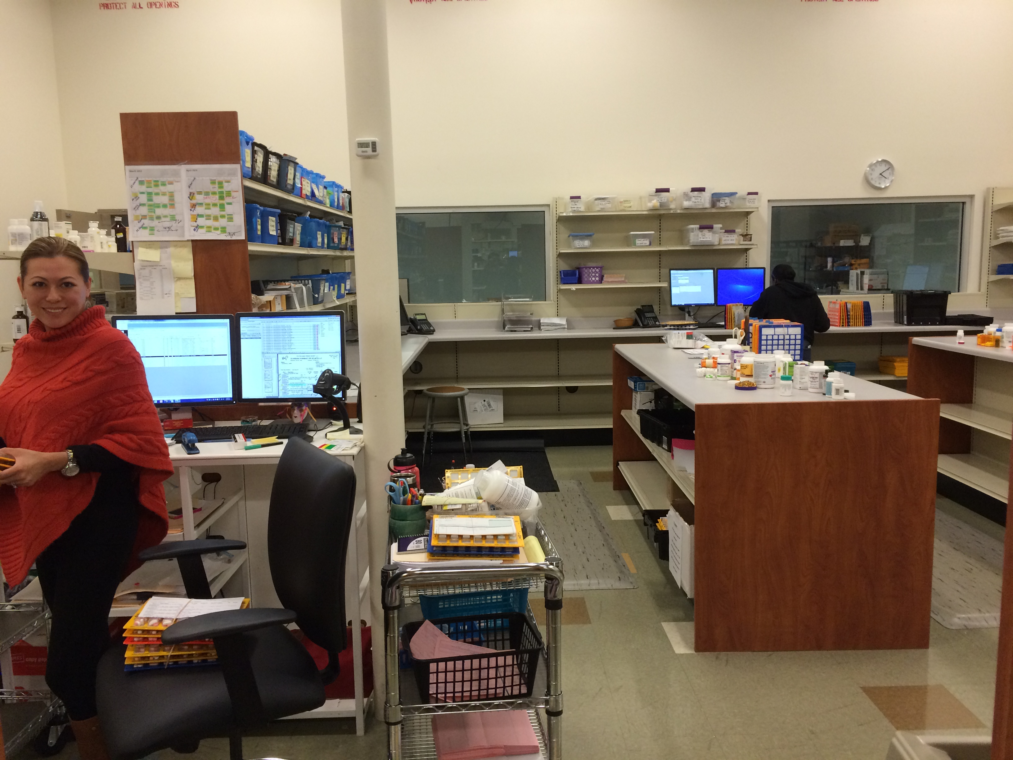 Pharmacist Marie Tate leads our Medicine-On-Time packaging.