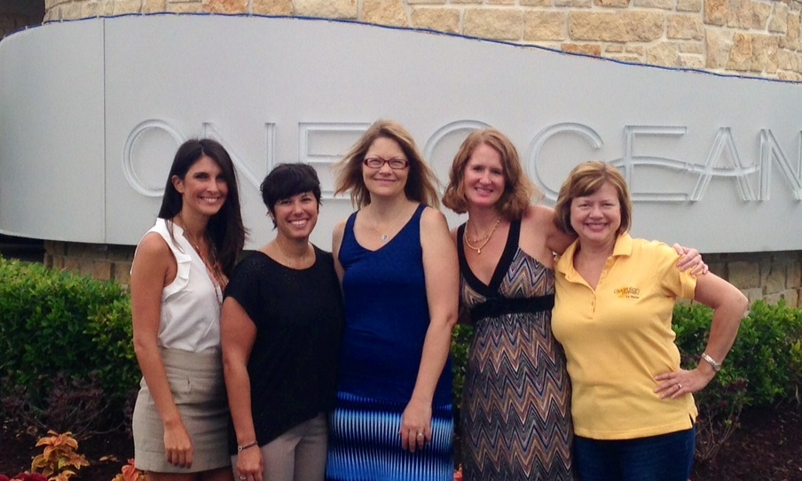 (L-R) Georgina Kalaitzis, sales and marketing representative; Laura Polinsky, director of operations; Khristy McClelland, president; Wendy Steve, director of finance and administration; and Gail Young, vice president of human resources