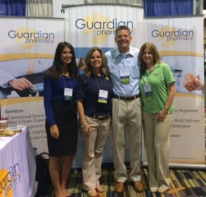 From l to r: Georgina Kalaitzis, Guardian of Jacksonville; Ali Wiggins, Guardian of Northwest Florida; Charles Kallmeyer, Guardian of Tampa and Guardian of Daytona; Debi Schulman, Guardian of Southwest Florida.