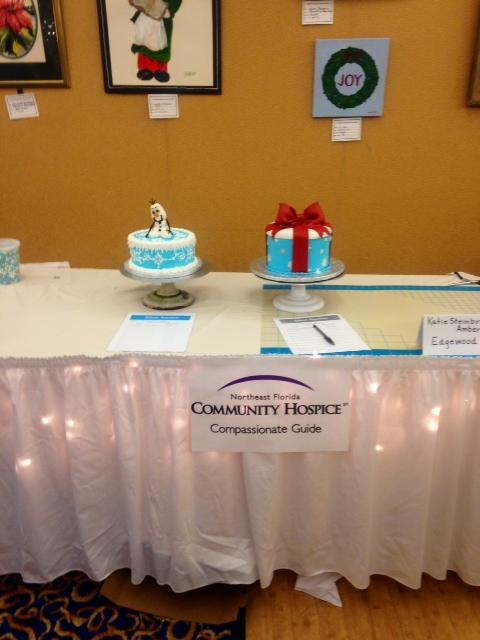 Second place winners of the cake decorating competition: Edgewood Bakers.