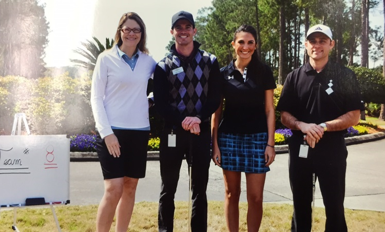 From l to r: Guardian of Jacksonville employees Khristy McClelland, Jerry Talarico, Georgina Leininger and John Meringolo at the tournament.