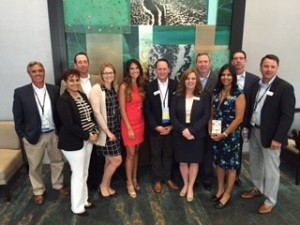 (Pictured above left to right: Mike Klein, Anya Pridee, David Stoup, Khristy McClelland, Georgina Leininger, Bobby Dunn, Ali Wiggins, Rich Eakins, Assura Chauhan, Rob Taymans and Matthew Depenbrock – all representing Guardian Pharmacy Florida)