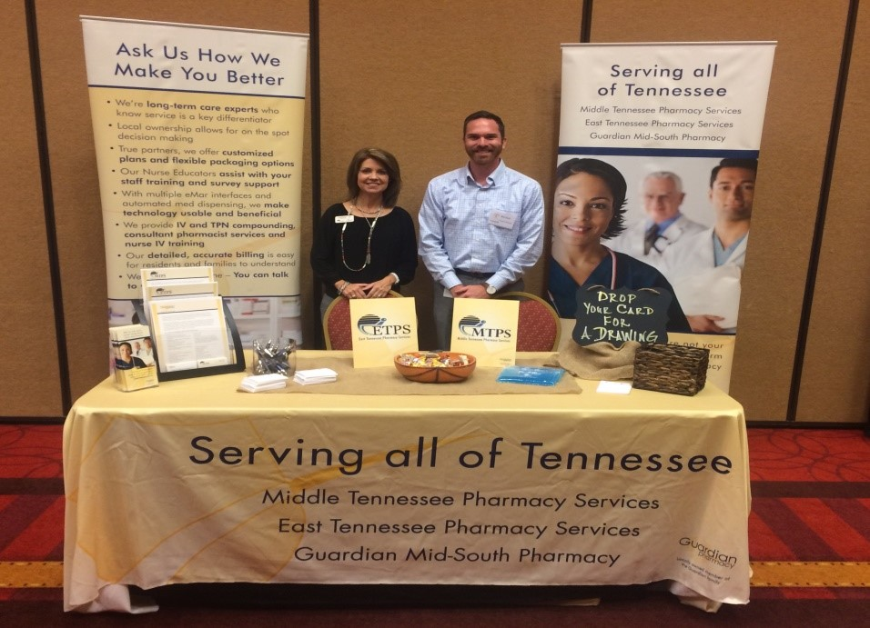 Sherry Nix (ETPS, MTPS) & Ben Clark (Guardian Pharmacy Mid-south) at the TNCO 2016 Fall Conference