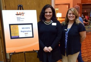 From l to r: Jodi DiNello and Haley Anderson attend this year's MS Expo.