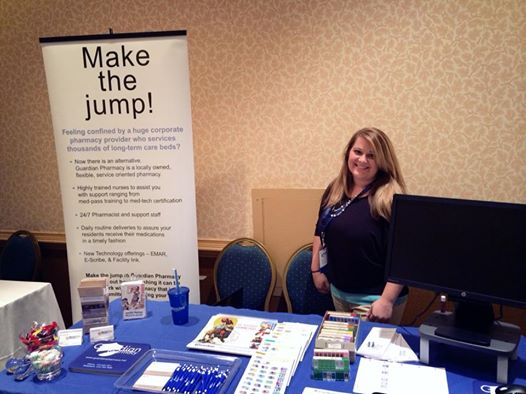 Haley Anderson, account representative at Senior Care Pharmacy, led the pharmacy's vendor booth at the exchange.
