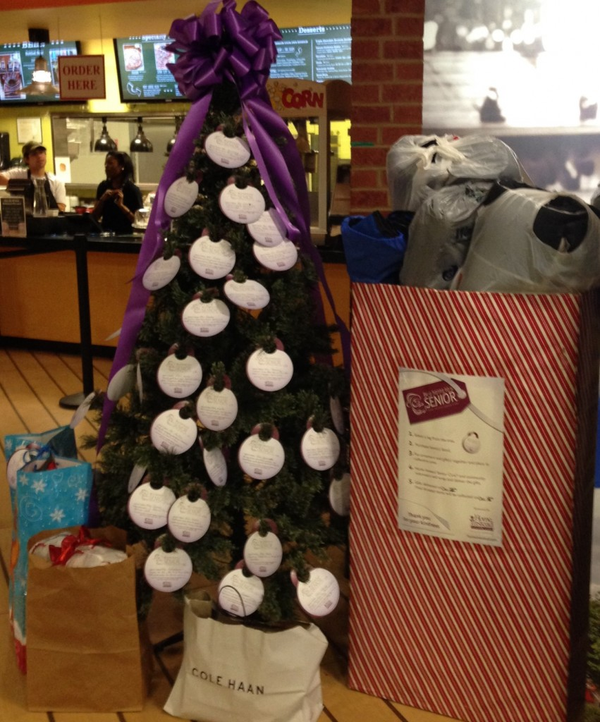 Statesboro's local 'Be a Santa to a Senior' box after Senior Care Pharmacy dropped off gifts.