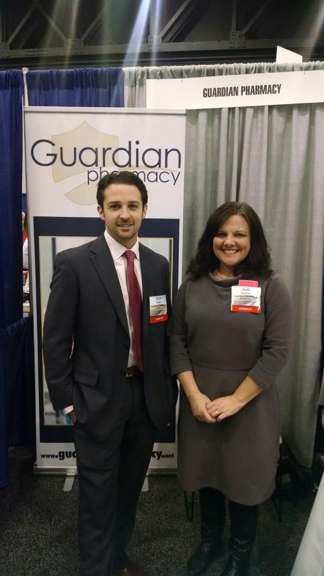 Matt Hopp, president of Guardian Pharmacy of Atlanta, and Jodi DiNello, president of Senior Care Pharmacy.