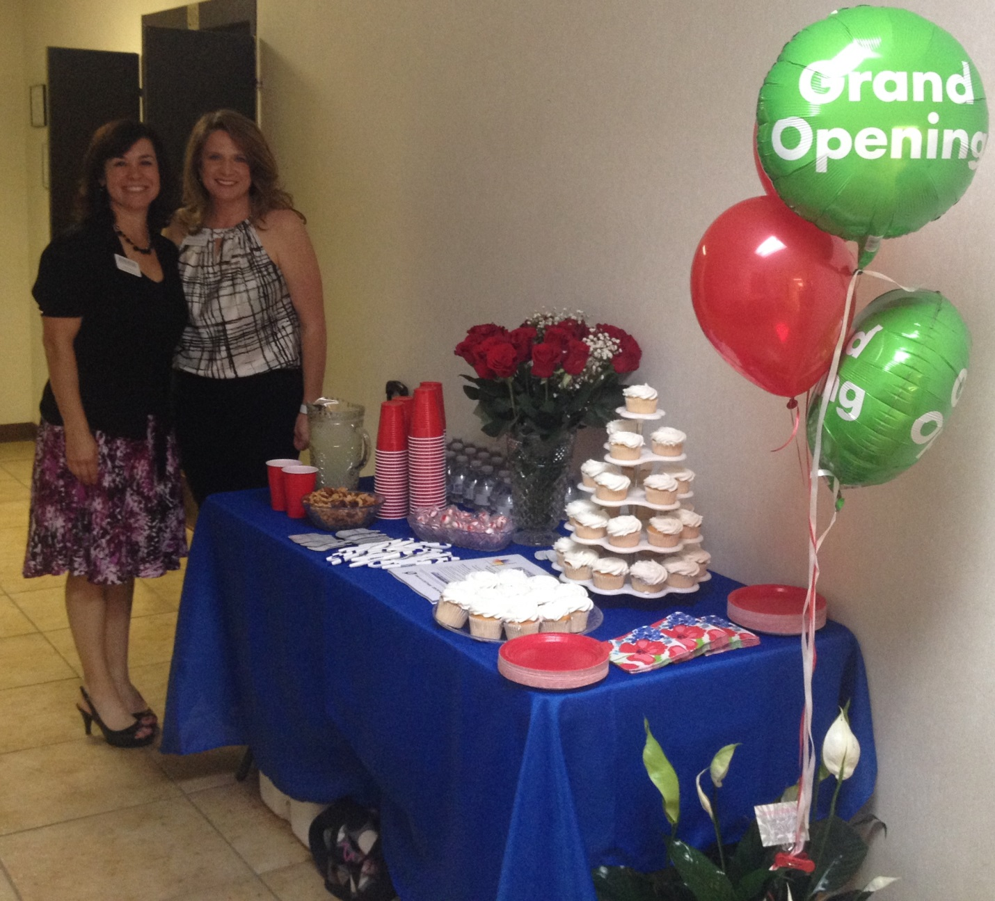 SPS employees Tess Davis, director of business development, and Wendy Kallaher, director of clinical support, attended the open house.