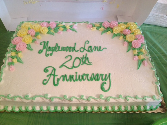 The anniversary cake attendees were able to enjoy.