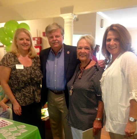 From l to r: Terri Payne, account manger at Southern Pharmaceutical Services; Mark Hall, Mayor of Helena;  Barbara Huffstetler, Maplewood adminstrator; and Wendy Kallaher, director of clinical services at Southern Pharmaceutical Services.