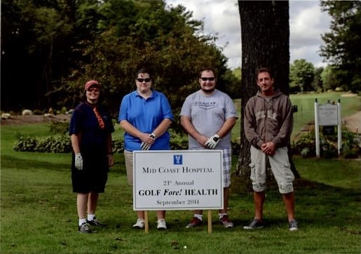 Waltz employees Denise Goupil, R.Ph; Michelle Andrews, marketing; David Mace, accounts receivable; and Dana Snell, daily fill technician, represented the pharmacy at the golf tournament.