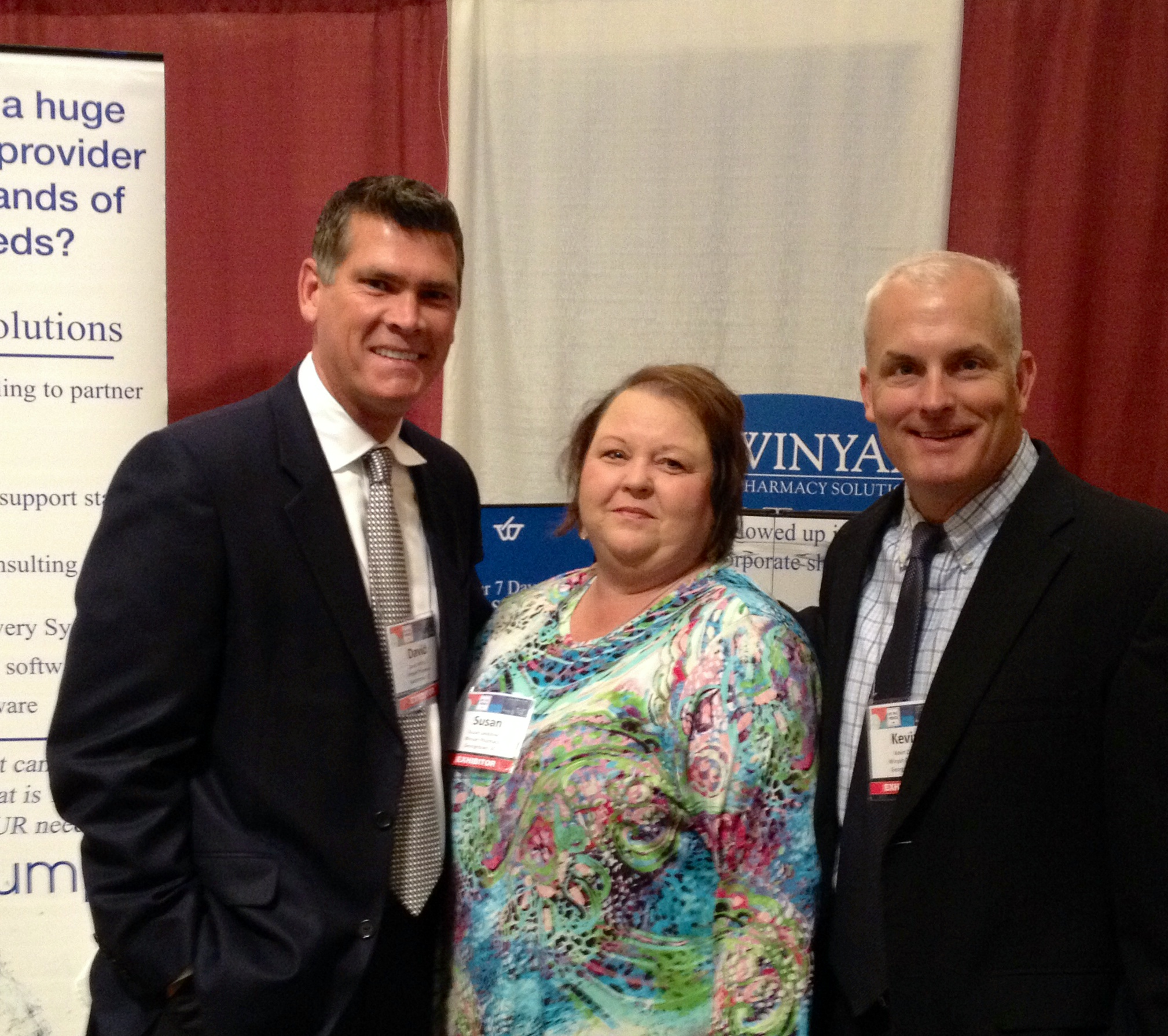 From l to r: David Whitlock, president; Susan Lecklitner, clinical account manager; and Kevin Dixon, sales director.
