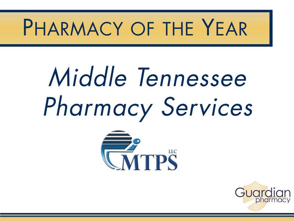 Pharmacy of the Year Award