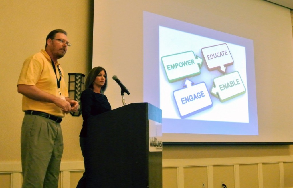 Ken Paulsen and Debi Schulman of Guardian Pharmacy of Southeast Florida led an interactive session on ways that management teams can empower supervisors.