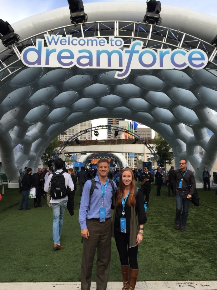 From l to r: David Martin, director of IT, and Laura Dunlap, sales and marketing associate